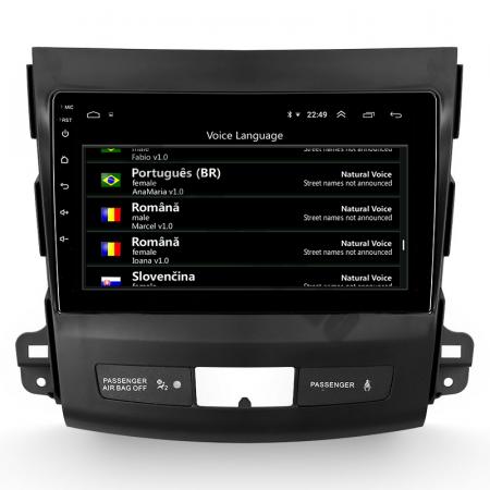 Navigatie Mitstubishi Outlander / Peugeot 4007 / Citroen C-Crosser, Android 9.1, QUADCORE|MTK| / 1GB RAM + 16 ROM, 9 Inch - AD-BGPOUTLANDER9MTK1GB10