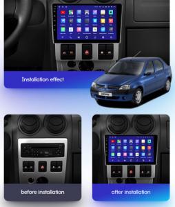 Navigatie Dacia Logan PH1 (2004-2009), QUADCORE|MTK| / 2GB RAM + 32GB ROM, 9 Inch - AD-BGPLOGANPH19INCH2GB16
