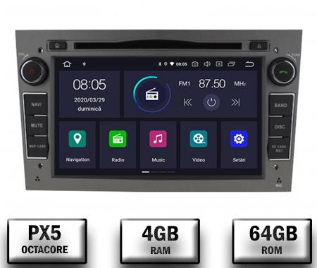 Navigatie Opel, Android 10, Octacore|PX5|/ 4GB RAM si 64GB ROM cu DVD, 7 Inch - AD-BGWOPL7P5-S0