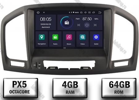 Navigatie Opel Insignia 2008-2011, Android 9, Octacore|PX5|/ 4GB RAM si 64GB ROM cu DVD, 8 Inch - AD-BGWOPLINSGP50