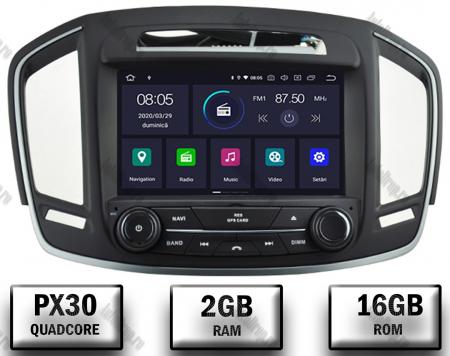Navigatie Opel Insignia 2014, Android 9, Quadcore|PX30|/ 2GB RAM si 16GB ROM cu DVD, 8 Inch - AD-BGWOPLINSG14P30