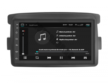 Navigatie Dacia / Renault, QUADCORE|MTK| / 1GB RAM + 16GB ROM, 7 Inch - AD-BGPDACIAMTK6