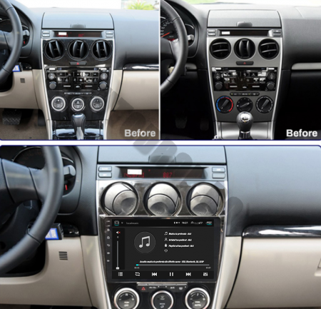 Navigatie Mazda 6 (2002-2008), QUADCORE MTK  / 2GB RAM + 32GB ROM, 9 Inch - AD-BGPMAZDA6MTK2GB19