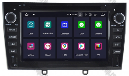 NAVIGATIE PEUGEOT 308/ 408, ANDROID 9, Octacore|PX5|/ 4GB RAM + 64GB ROM cu DVD, 7 Inch - AD-BGWPGTX08P5-B2