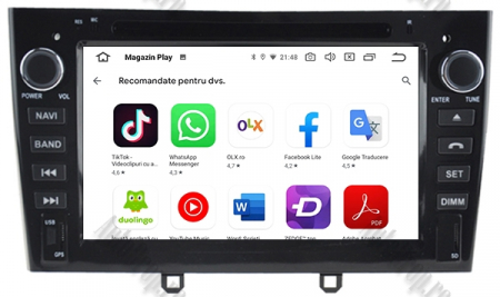 NAVIGATIE PEUGEOT 308/ 408, ANDROID 9, Octacore|PX5|/ 4GB RAM + 64GB ROM cu DVD, 7 Inch - AD-BGWPGTX08P5-B10