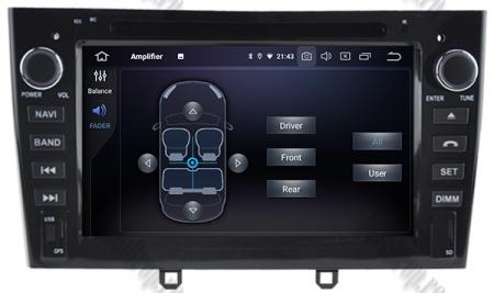 NAVIGATIE PEUGEOT 308/ 408, ANDROID 9, Quadcore|PX30|/ 2GB RAM + 16GB ROM cu DVD, 7 Inch - AD-BGWPGTX08P3-B7
