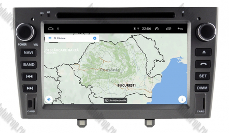NAVIGATIE PEUGEOT 308/ 408, ANDROID 9, Octacore|PX5|/ 4GB RAM + 64GB ROM cu DVD, 7 Inch - AD-BGWPGTX08P5-G12
