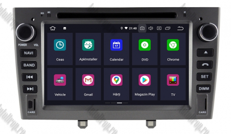 NAVIGATIE PEUGEOT 308/ 408, ANDROID 9, Octacore|PX5|/ 4GB RAM + 64GB ROM cu DVD, 7 Inch - AD-BGWPGTX08P5-G2