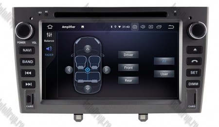 NAVIGATIE PEUGEOT 308/ 408, ANDROID 9, Octacore|PX5|/ 4GB RAM + 64GB ROM cu DVD, 7 Inch - AD-BGWPGTX08P5-G7
