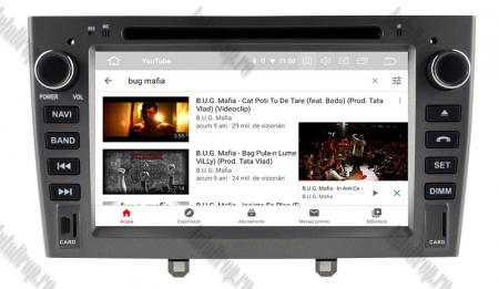NAVIGATIE PEUGEOT 308/ 408, ANDROID 9, Quadcore PX30 / 2GB RAM + 16GB ROM cu DVD, 7 Inch - AD-BGWPGTX08P3-G10