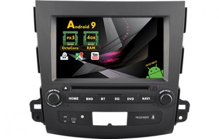 Navigatie MITSUBISHI OUTLANDER, PEUGEOT 4007(2007-2012)/CITROEN C-CROSSER, Android 9, Octacore / 4GB RAM cu DVD, 7 Inch - AD-BGWOTLRP50