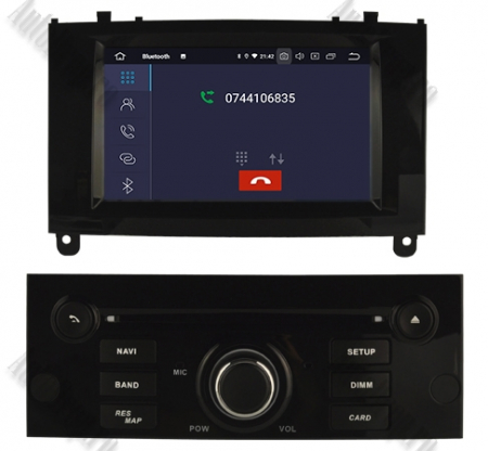 NAVIGATIE PEUGEOT 407, ANDROID 9, Octacore|PX5|/ 4GB RAM + 64GB ROM CU DVD, 7 INCH - AD-BGWPGT407P5-B8