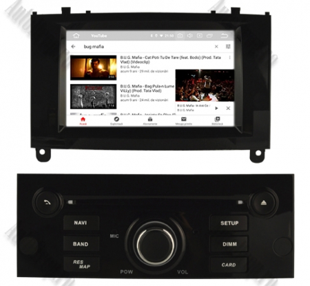 NAVIGATIE PEUGEOT 407, ANDROID 9, Octacore|PX5|/ 4GB RAM + 64GB ROM CU DVD, 7 INCH - AD-BGWPGT407P5-B11