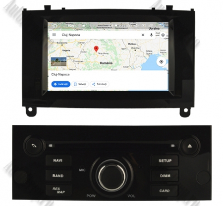 NAVIGATIE PEUGEOT 407, ANDROID 9, Octacore|PX5|/ 4GB RAM + 64GB ROM CU DVD, 7 INCH - AD-BGWPGT407P5-B14