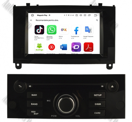 NAVIGATIE PEUGEOT 407, ANDROID 9, Octacore|PX5|/ 4GB RAM + 64GB ROM CU DVD, 7 INCH - AD-BGWPGT407P5-B10