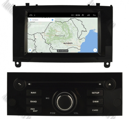 NAVIGATIE PEUGEOT 407, ANDROID 9, Octacore|PX5|/ 4GB RAM + 64GB ROM CU DVD, 7 INCH - AD-BGWPGT407P5-B12