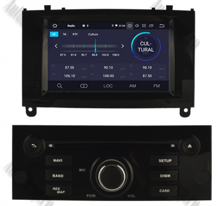 NAVIGATIE PEUGEOT 407, ANDROID 9, Octacore|PX5|/ 4GB RAM + 64GB ROM CU DVD, 7 INCH - AD-BGWPGT407P5-B3