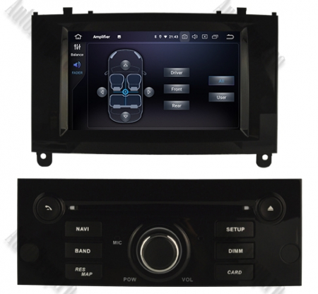 NAVIGATIE PEUGEOT 407, ANDROID 9, Octacore|PX5|/ 4GB RAM + 64GB ROM CU DVD, 7 INCH - AD-BGWPGT407P5-B6