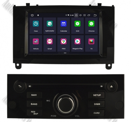 NAVIGATIE PEUGEOT 407, ANDROID 9, Octacore|PX5|/ 4GB RAM + 64GB ROM CU DVD, 7 INCH - AD-BGWPGT407P5-B2