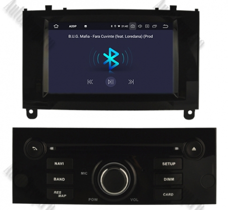 NAVIGATIE PEUGEOT 407, ANDROID 9, Octacore|PX5|/ 4GB RAM + 64GB ROM CU DVD, 7 INCH - AD-BGWPGT407P5-B5