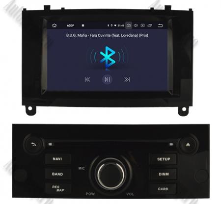 Navigatie Dedicata Android Peugeot 407 4+64GB Negru [5]