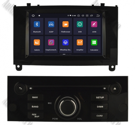 NAVIGATIE PEUGEOT 407, ANDROID 9, Octacore|PX5|/ 4GB RAM + 64GB ROM CU DVD, 7 INCH - AD-BGWPGT407P5-B1