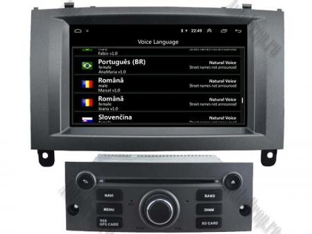 Navigatie Peugeot 407, Android 10, Quadcore|MTK|/ 2GB RAM + 16GB ROM cu DVD, 7 Inch - AD-BGWPGT407MTK-S4