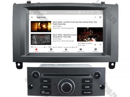 Navigatie Peugeot 407, Android 10, Quadcore|MTK|/ 2GB RAM + 16GB ROM cu DVD, 7 Inch - AD-BGWPGT407MTK-S8