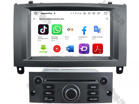 Navigatie Peugeot 407, Android 10, Quadcore|MTK|/ 2GB RAM + 16GB ROM cu DVD, 7 Inch - AD-BGWPGT407MTK-S6