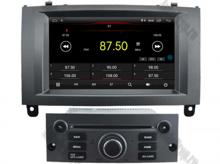 Navigatie Peugeot 407, Android 10, Quadcore|MTK|/ 2GB RAM + 16GB ROM cu DVD, 7 Inch - AD-BGWPGT407MTK-S1