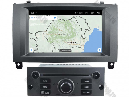 Navigatie Peugeot 407, Android 10, Quadcore|MTK|/ 2GB RAM + 16GB ROM cu DVD, 7 Inch - AD-BGWPGT407MTK-S10