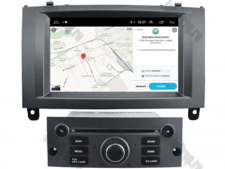 Navigatie Peugeot 407, Android 10, Quadcore|MTK|/ 2GB RAM + 16GB ROM cu DVD, 7 Inch - AD-BGWPGT407MTK-S7