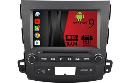 Navigatie MITSUBISHI OUTLANDER, PEUGEOT 4007(2007-2012)/CITROEN C-CROSSER, Android 9, Quadcore / 2GB RAM cu DVD, 7 Inch - AD-BGWOTLRP30