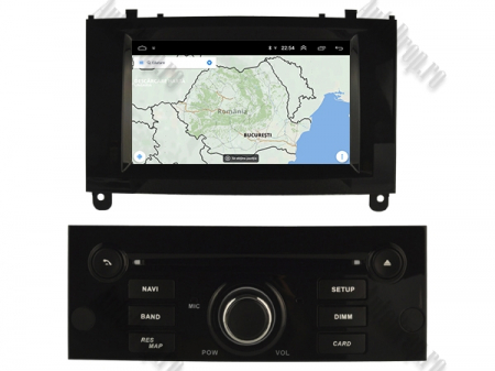 Navigatie Peugeot 407, Android 10, Quadcore|MTK|/ 2GB RAM + 16GB ROM cu DVD, 7 Inch - AD-BGWPGT407MTK-B7