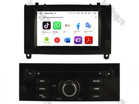 Navigatie Peugeot 407, Android 10, Quadcore|MTK|/ 2GB RAM + 16GB ROM cu DVD, 7 Inch - AD-BGWPGT407MTK-B5