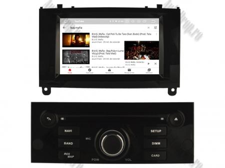 Navigatie Peugeot 407, Android 10, Quadcore|MTK|/ 2GB RAM + 16GB ROM cu DVD, 7 Inch - AD-BGWPGT407MTK-B6