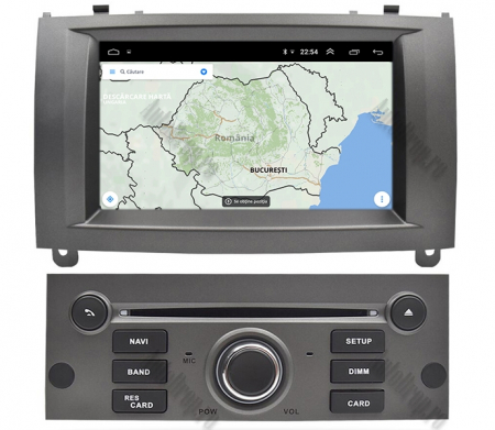 NAVIGATIE PEUGEOT 407, ANDROID 9, Octacore|PX5|/ 4GB RAM + 64GB ROM CU DVD, 7 INCH - AD-BGWPGT407P5-S12