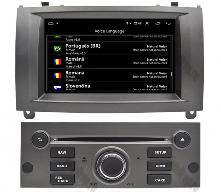 NAVIGATIE PEUGEOT 407, ANDROID 9, Octacore|PX5|/ 4GB RAM + 64GB ROM CU DVD, 7 INCH - AD-BGWPGT407P5-S8