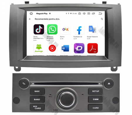 NAVIGATIE PEUGEOT 407, ANDROID 9, Octacore|PX5|/ 4GB RAM + 64GB ROM CU DVD, 7 INCH - AD-BGWPGT407P5-S10