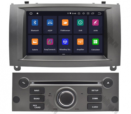 NAVIGATIE PEUGEOT 407, ANDROID 9, Octacore|PX5|/ 4GB RAM + 64GB ROM CU DVD, 7 INCH - AD-BGWPGT407P5-S2