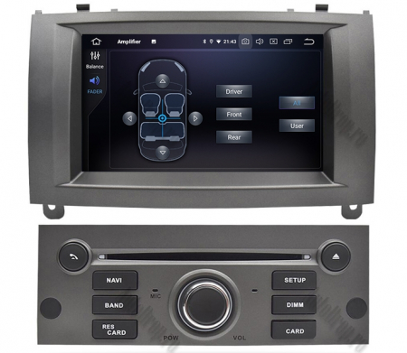 NAVIGATIE PEUGEOT 407, ANDROID 9, Octacore|PX5|/ 4GB RAM + 64GB ROM CU DVD, 7 INCH - AD-BGWPGT407P5-S6