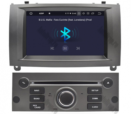 NAVIGATIE PEUGEOT 407, ANDROID 9, Octacore|PX5|/ 4GB RAM + 64GB ROM CU DVD, 7 INCH - AD-BGWPGT407P5-S4