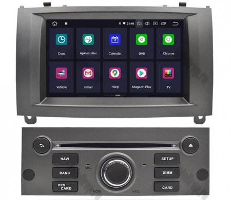 NAVIGATIE PEUGEOT 407, ANDROID 9, Octacore|PX5|/ 4GB RAM + 64GB ROM CU DVD, 7 INCH - AD-BGWPGT407P5-S1