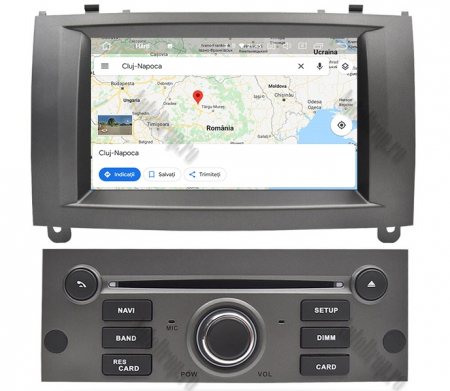 NAVIGATIE PEUGEOT 407, ANDROID 9, Octacore|PX5|/ 4GB RAM + 64GB ROM CU DVD, 7 INCH - AD-BGWPGT407P5-S14