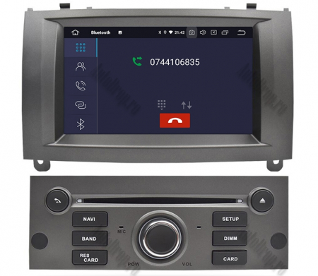 NAVIGATIE PEUGEOT 407, ANDROID 9, Octacore|PX5|/ 4GB RAM + 64GB ROM CU DVD, 7 INCH - AD-BGWPGT407P5-S5