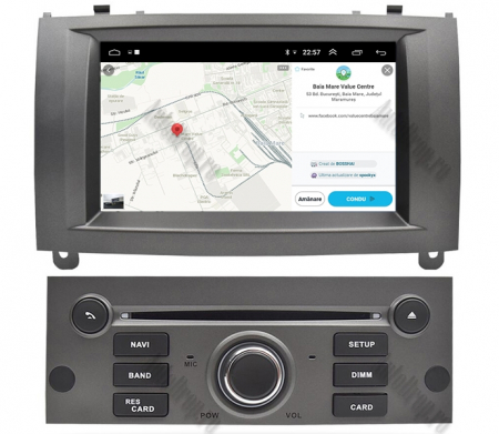 NAVIGATIE PEUGEOT 407, ANDROID 9, Octacore|PX5|/ 4GB RAM + 64GB ROM CU DVD, 7 INCH - AD-BGWPGT407P5-S13