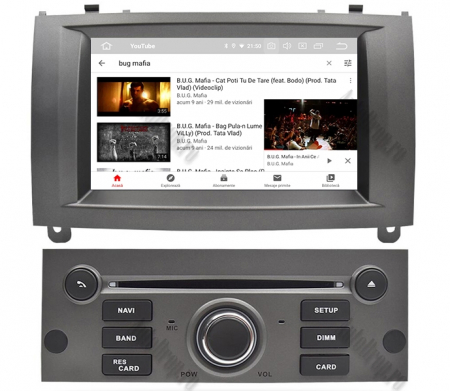 NAVIGATIE PEUGEOT 407, ANDROID 9, Octacore|PX5|/ 4GB RAM + 64GB ROM CU DVD, 7 INCH - AD-BGWPGT407P5-S9