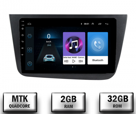 Navigatie Seat Altea/Toledo (2005-2012), QUADCORE|MTK| / 2GB RAM + 32GB ROM, 9 Inch - AD-BGPALTEA9MTK2GB0