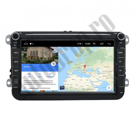 Navigatie Volkswagen, Skoda, Seat, QUADCORE|MTK| / 1GB RAM + 16GB ROM, 8 Inch - AD-BGPVW8MTK12