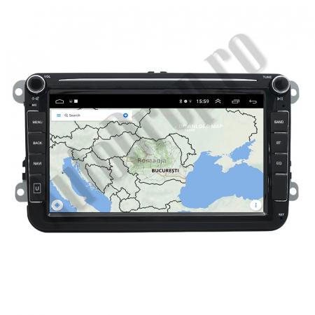 Navigatie Volkswagen, Skoda, Seat, QUADCORE|MTK| / 1GB RAM + 16GB ROM, 8 Inch - AD-BGPVW8MTK11
